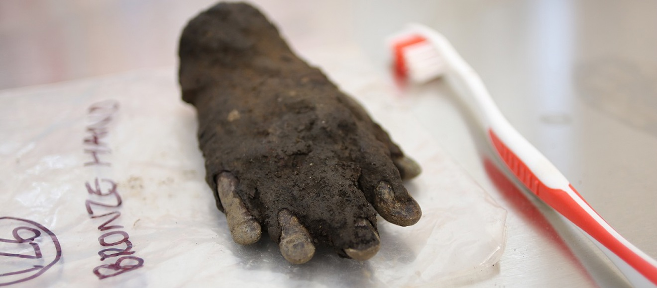 Rare Bronze Hand Discovered