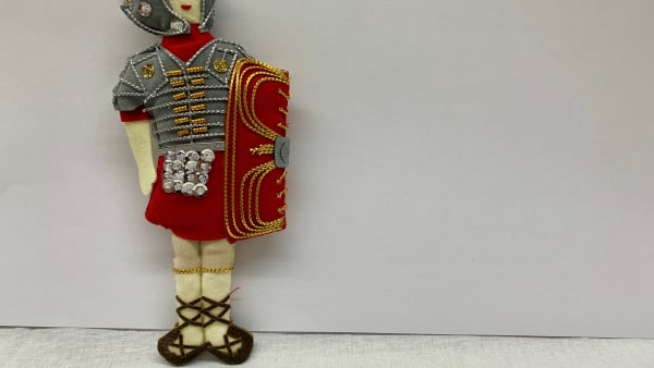 Roman Soldier Christmas Decoration